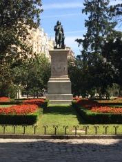 Statue of Murillo at the Prado Muesum