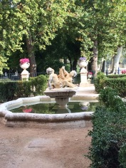Fountain in Aranjuez' Queen's Garden