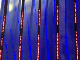 Jenny Holzer's piece inside the Guggenheim