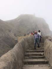 The climb up to the monastery