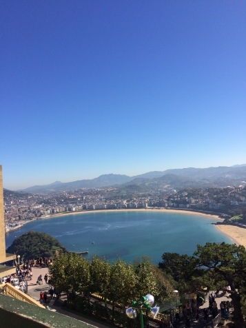 Playa de la Concha from the top of the hill