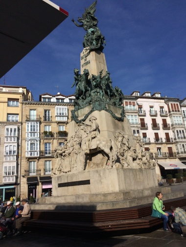 A monument in the Vitoria square