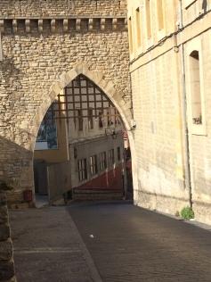 A medieval portcullis